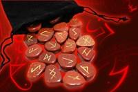 Красный авантюрин Руны из камня плоские