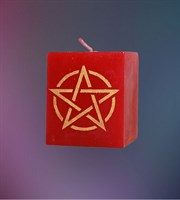 Свеча Универсальная Пентаграмма (красная)