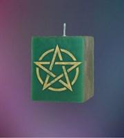 Свеча Универсальная Пентаграмма (зеленая)