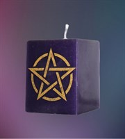 """Ясновидение"" свеча Пентаграмма"