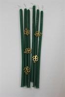 Восковая свеча  Денежная (зеленая) 4 мм дл. 17 см 1 шт