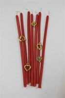 Восковая свеча  Любовь (красная) 4 мм дл. 17 см 1 шт