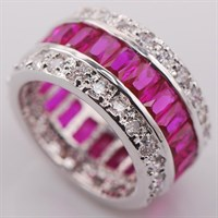 """Кольцо """"Драгоценный круг"""", розовый сапфир"""