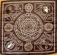 Скатерть-алтарь Энохианской магии с белым