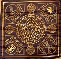 Скатерть-алтарь Энохианской магии с золотом