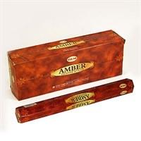 Amber - Амбер (№9) благовоние Hem 6-гранки