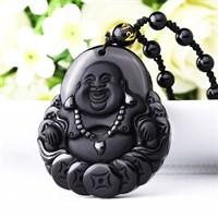 Подвеска Счастливый Будда - денежный талисман (О-7)