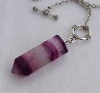 Маятник-кулон из Флюорита кристалл